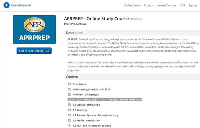 APRPREP - APR Online Study Course